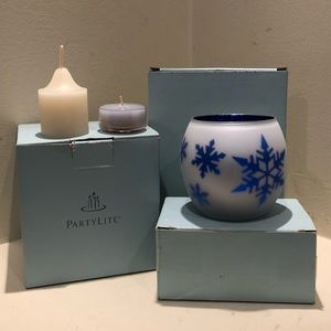 PartyLite candle holder and candles 🕯 bundle